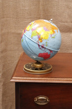 "J Chein & Company metal 7.5"" World Globe (USA)"