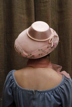 VCH ~50'S PINK FABRIC SUMMER HAT