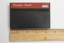 """Sega Master """"Thunder Blade"""" vintage 1990s video game cartridge.  In good condition and in working order.  TY65813"""