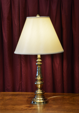 Brass Table Lamp from Hotel Macdonald