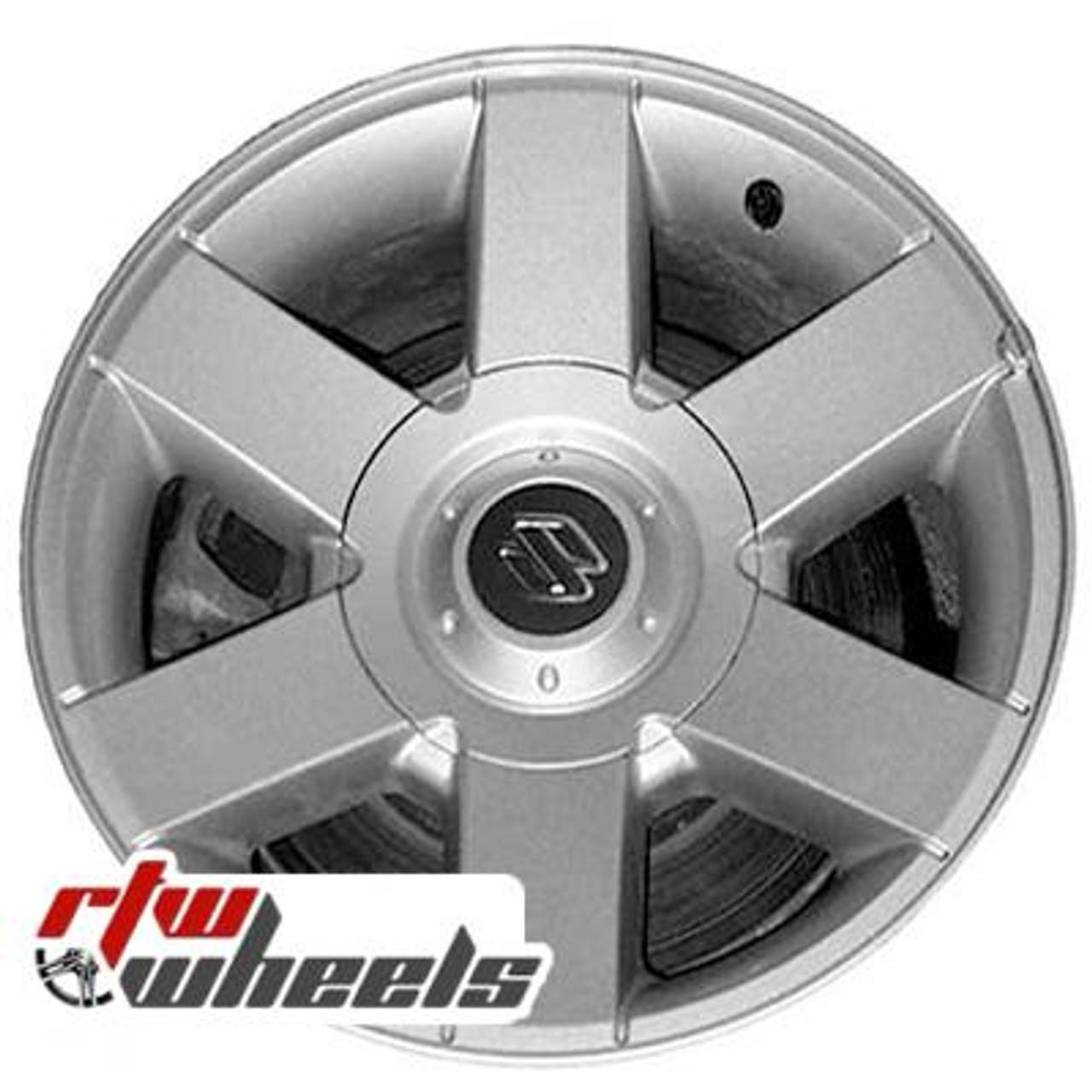 suzuki xl7 oem wheels 2001 2003 silver 72675 suzuki xl7 oem wheels 2001 2003 sparkle silver 72675