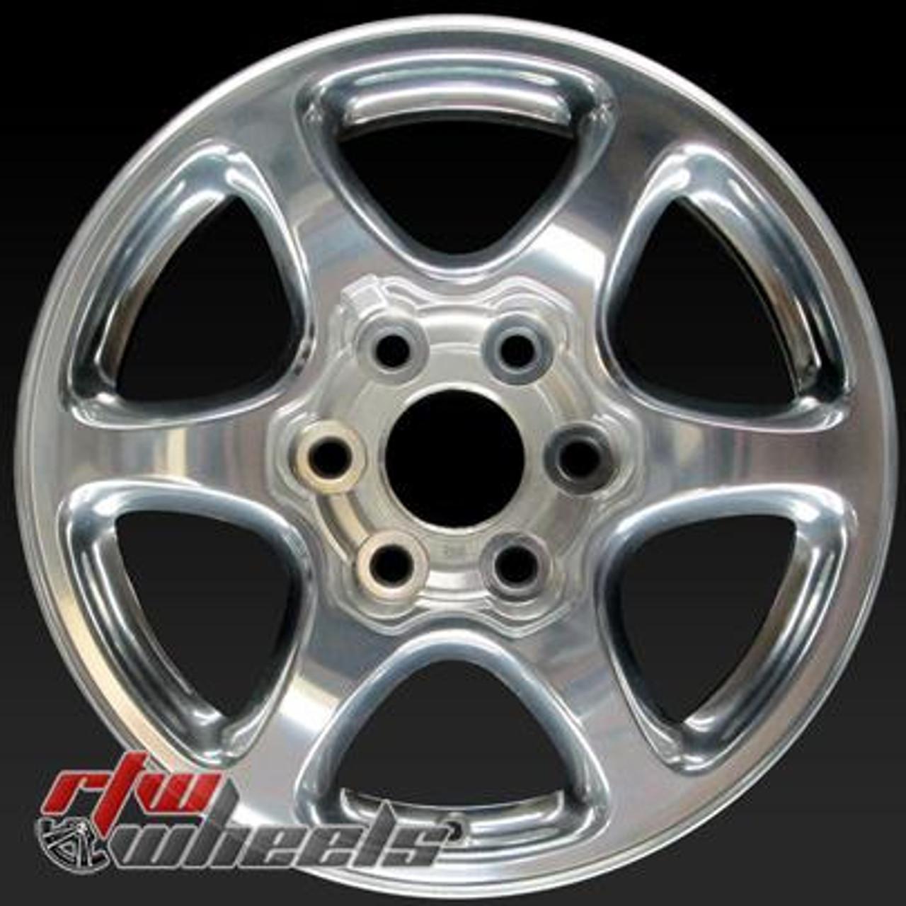 17 Gmc Yukon Oem Wheels For Sale 2002 2007 Polished Rims 5132