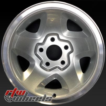 "Chevy Pickup wheels for sale 1994-2000. 15"" Silver Machined Lip rims 5028"