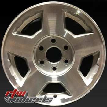 "Chevy wheels for sale 2004-2007. 17"" Machined Silver rims 5196"
