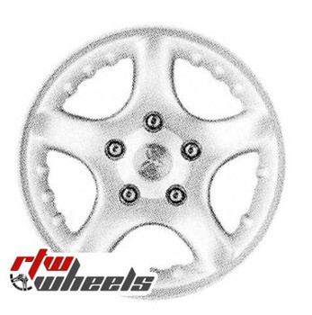 17 inch Dodge Pickup  OEM wheels 2222 part# 5GL88PAKAA, 5GLAAPAKAA