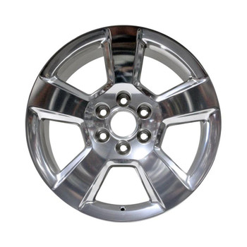 "20x9"" Polished factory replacement wheel for Chevy Silverado replica 5652"