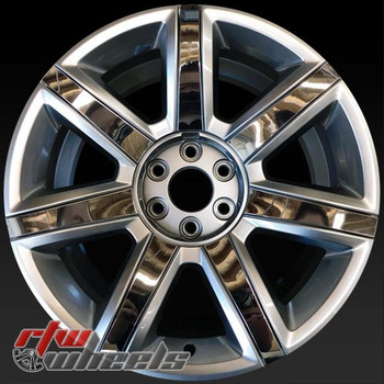 "22"" Cadillac Escalade oem wheels 2015-2017 Silver rims 4739 WITH inserts"