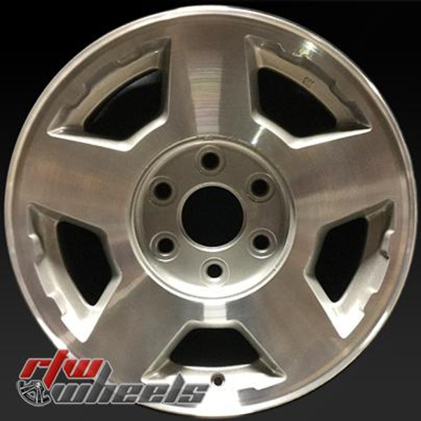 """Chevy wheels for sale 2004-2007. 17"""" Machined Silver rims 5196"""