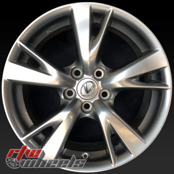 "Lexus IS250 OEM wheels 2009-2010 18"" Hypersilver rims 74217"