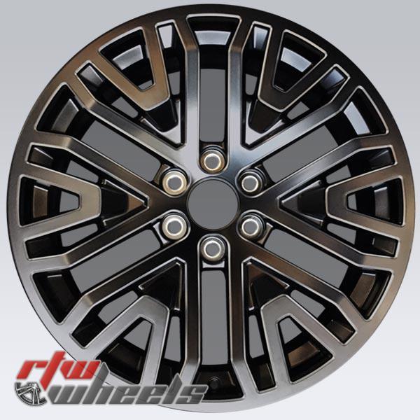 22 inch Chevy Silverado OEM wheels 2019-2020 Black rims 5906