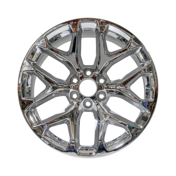 """22x9"""" Chrome SNOWFLAKE factory replacement wheel for GM Trucks replica 5668"""