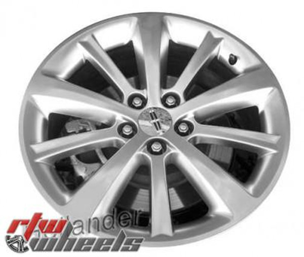 "Lincoln MKS wheels 2009-2012. 19"" Machined Charcoal rims 3766"