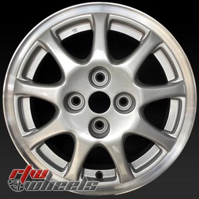 "Average Model Weight >> 14"" Mitsubishi Mirage oem wheels for sale 1994 Silver stock rims 65724"