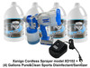 Xanigo XD102 Cordless Sprayer with (4) gallons Mat Cleanser
