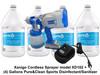 Xanigo XD102 Cordless Sprayer with (4) gallons Disinfectant Sanitizer