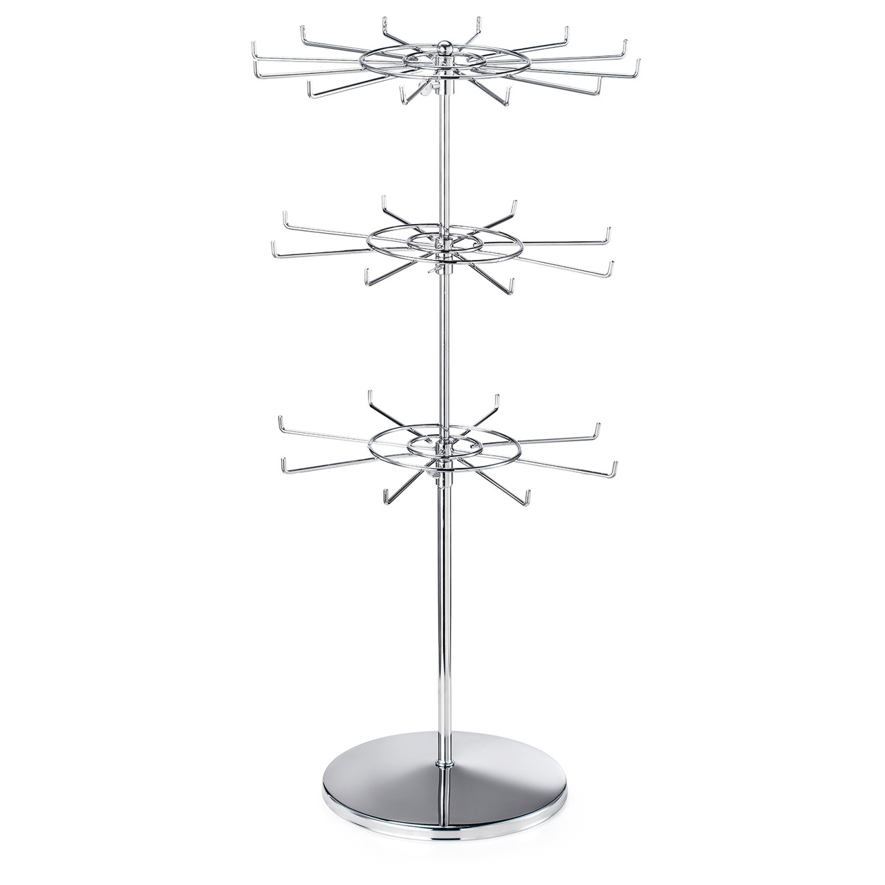 Polmart Countertop Heavy Duty Adjustable Two Tier Spinner Display Stand 6 - Pack
