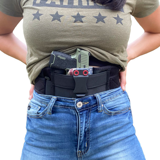 STRAPT-TAC Belly Band Holster (Kydex IWB Holster NOT Included)