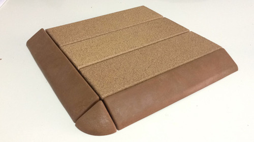 Natural Floating Stoneware, fitted with additional edging and corner piece sold separately