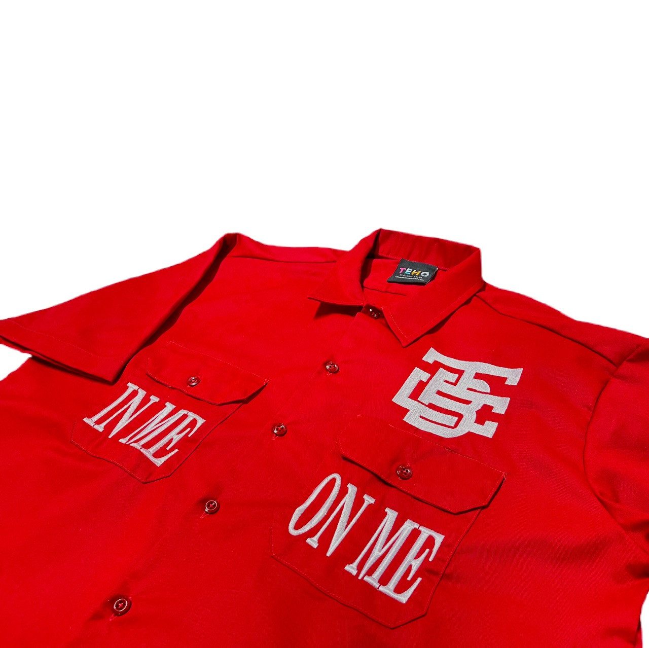 """True Red """"IMOM"""" Industrial Shirt"""
