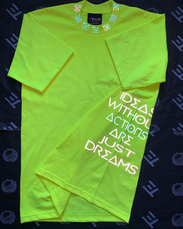 """Electric Green """"World Is Yours"""" TEHO Tee"""