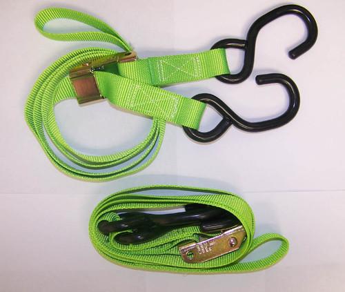 Cam Type Tie Down Set (GREEN)