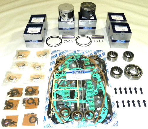 """Mercury 2.5 Liter With Head Gaskets & EFI, 3.5"""" Bore Top Guided 6 cyl. Power Head Rebuild Kit"""