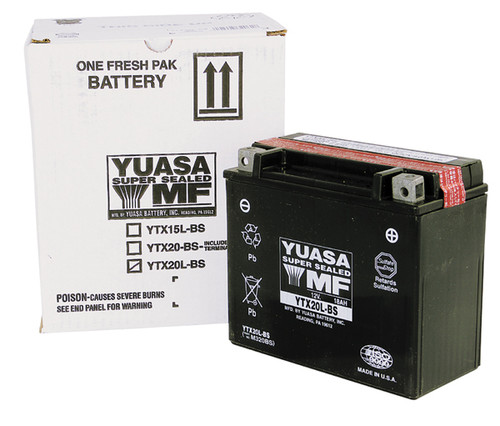Yuasa YTX20L-BS Sealed High Performance Battery