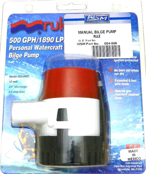Manual 500 GPH Water Pumps