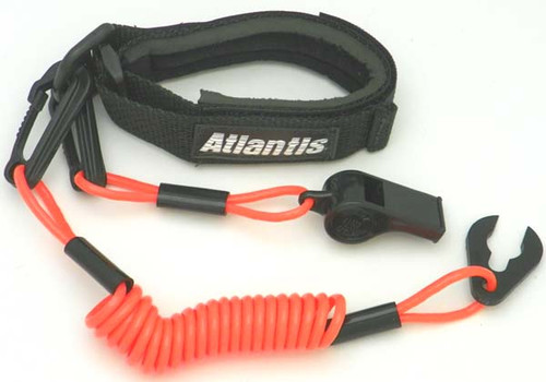 Floating Kawasaki, Polaris, Tigershark, Wetjet 300 Pro-Wrist Lanyard with Whistles