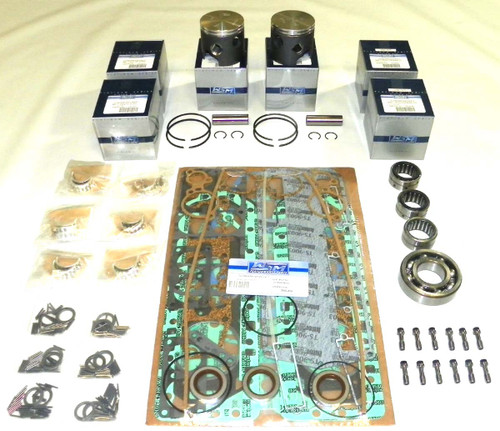 "Mercury 150 HP 6 Cyl. 3.125"" Bore Bottom Guided 2 Liter Power Head Rebuild Kit"