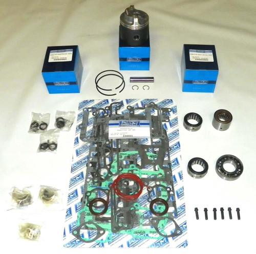 """Chrysler/Force 90 HP 3.375"""" Std. Bore Bottom Guided Power Head Rebuild Kit"""