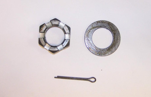 "1"" Spindle Nut, Washer and Cotter Pin"