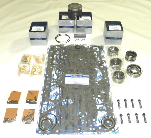 "Mercury 100-125 HP 4 cyl 3.375"" Bore Bottom Guided Rod Power Head Rebuild Kit"