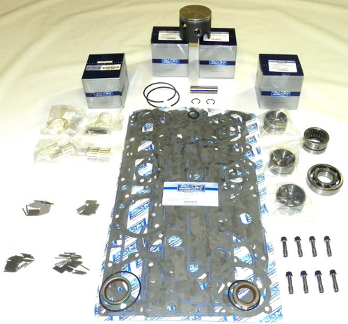 "Mercury 100-115 HP 4 cyl L4 3.375"" Bore Top Guided Power Head Rebuild Kit"