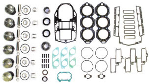 """OMC 50 '98 & Up 3.187"""" Bore 3 Cyl. Power Head Rebuild Kit"""