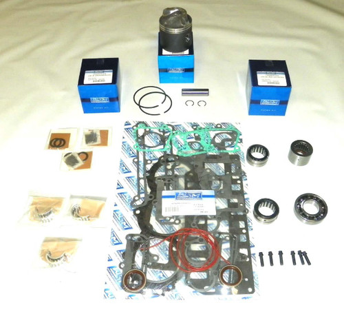 """Chrysler/Force Sport Jet 90 HP 3.375"""" Std. Bore Bottom Guided Power Head Rebuild Kit"""