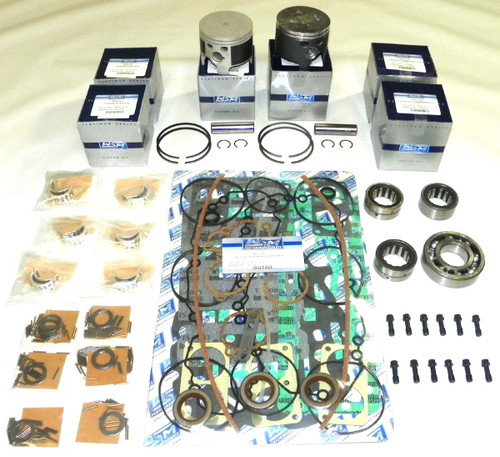 """Mercury 2.5 Liter Cylinder head O-Rings & Carburated 3.5"""" Bore Top Guided V6 Power Head Rebuild Kit"""