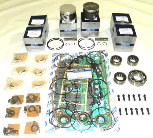 Mercury 2.5 Liter with Cylinder head O-Rings & EFI 3.5: bore Top Guided 6 Cyl Power Head Rebuild Kit