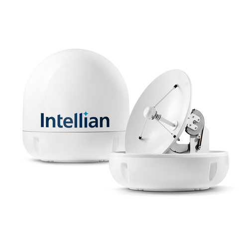 Intellian i5 Maximized Performance in a compact design Marine TV Antenna System - All-Americas LNB