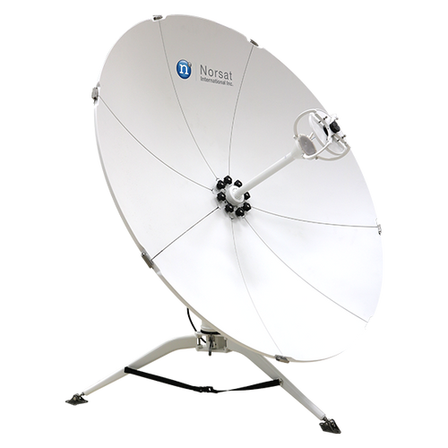 Norsat WFM120KU WAYFARER 1.2m Ku-Band Manual Flyaway Antenna