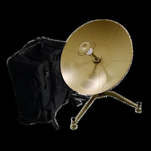 Norsat JM090KUE Journey ManPack 0.9 m Ku-Band Manual Acquire Antenna