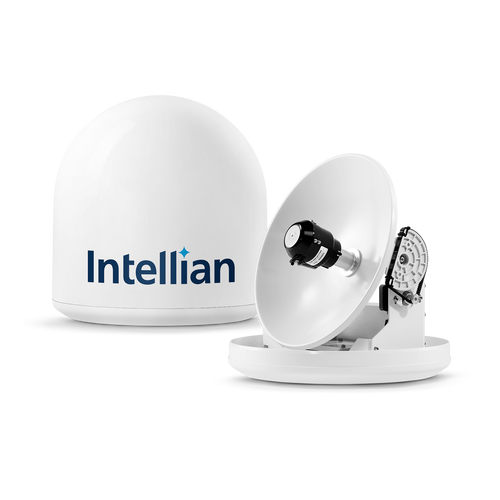 Intellian i3 Linear System with 37cm (14.6 inch) Reflector & Universal Dual LNB - Europe, Sky Mexico, Sky Brazil