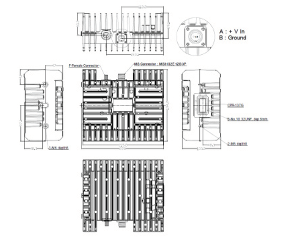 Norsat ELMTBC010-IF 10W C-Band BUC