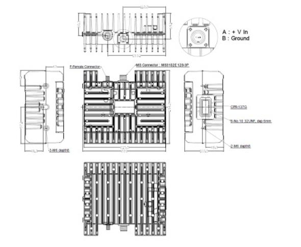 Norsat ELMTBC020-IN 20W C-Band BUC