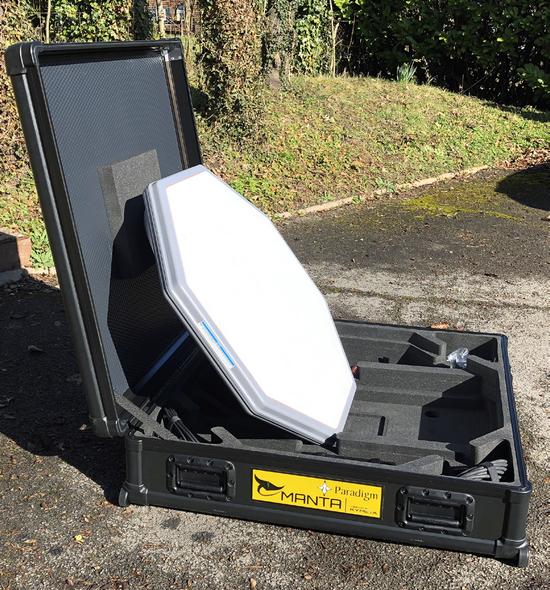 MANTA Versatile High Speed Satcoms On The Move