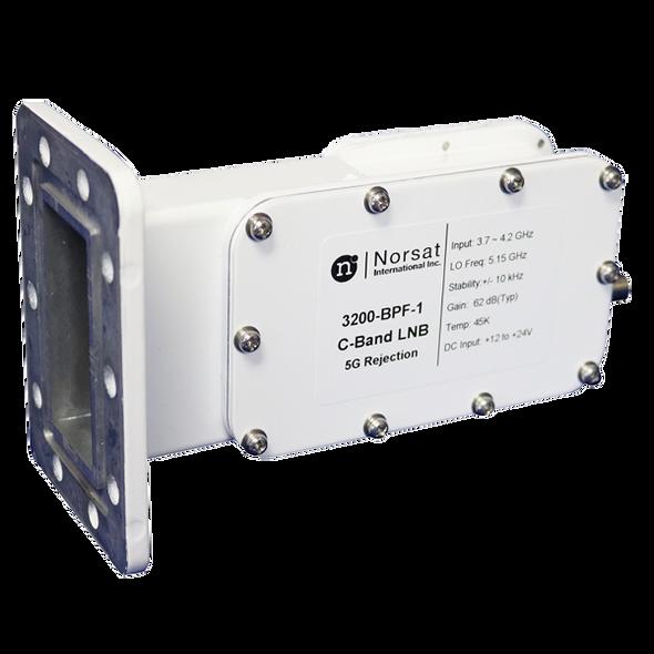 Norsat 3000 Series 3100F-BPF-6 C-Band Single-Band LNB