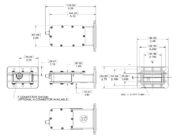 Norsat 3000 Series 3100F-SBPF-5 C-Band Single-Band LNB