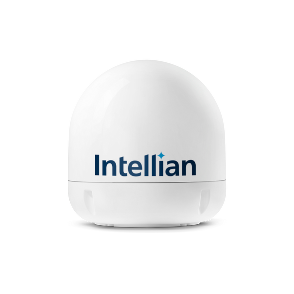 Intellian i6PE (Auto Skew & Extended Elevation -15º-90º) Linear System with 60cm (23.6 inch) Reflector & Universal Quad LNB - Europe, Sky Mexico, Sky Brazil