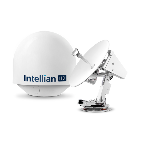 Intellian s80HD World View 83cm Maritime Antenna for HD DIRECTV Reception Watch All 3 Primary DIRECTV Satellites at Once