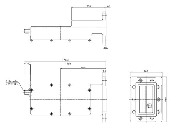Norsat 8000 Series 8525IF C-Band Single-Band LNB